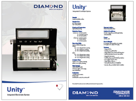 Unity Integrated Electrolyte System brochure